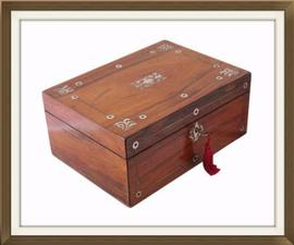 SOLD Victorian Antique Rosewood Jewellery Box