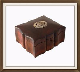 SOLD Beautiful Antique Solid Walnut Jewellery Box