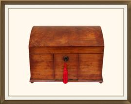SOLD Antique Walnut & Olive Wood Jewellery Box