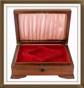 SOLD Walnut Veneered Art Deco Jewellery Box