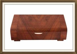 SOLD Art Deco Walnut & Mahogany Jewellery Box