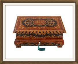 SOLD Vintage Inlaid Musical Jewellery Box