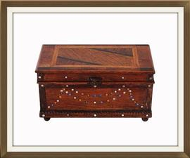 Crystal Set Inlaid Musical Vintage Jewellery Box