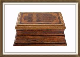 SOLD Art Deco Plinthed Walnut Jewellery Box