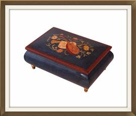SOLD Enameled Musical Vintage Jewellery Box