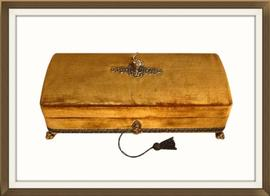 SOLD Vintage Harrods Velvet Covered Jewellery Box