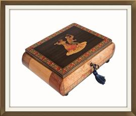 SOLD Sorrento Inlaid Musical Jewellery Box