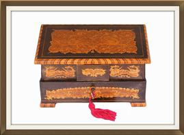 SOLD Vintage 1930s Inlaid Musical Jewellery Box