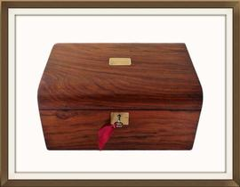 SOLD Beautiful Antique Mahogany Jewellery Box