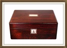 SOLD Large Antique Mahogany Jewellery Box