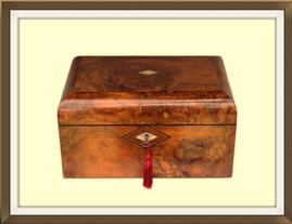 SOLD Large Antique Walnut Veneered Jewellery Box