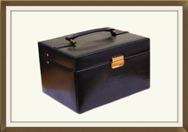 SOLD Beautiful Large Faux Leather Jewellery Box