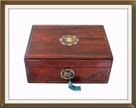 SOLD Restored Antique Rosewood Jewellery Box