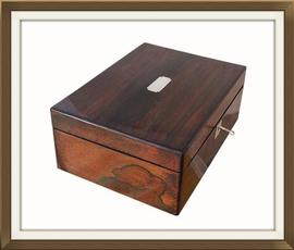 SOLD Large Antique Rosewood Jewellery Box