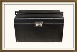 SOLD Beautiful Extra Large Leather Jewellery Box