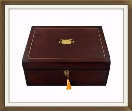 SOLD Early Victorian Mahogany Jewellery Box