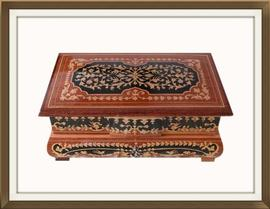 SOLD Vintage Marquetry Inlaid Jewellery Box