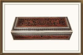 SOLD Anglo Indian Carved & Inlaid Jewellery Box