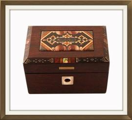 SOLD Rare German Antique Miniature Pietra Dura Box