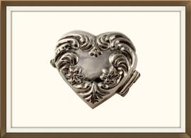 Heart Shaped Sterling Silver Vintage Pill Box