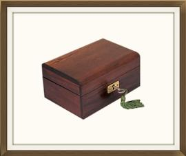 SOLD Little French Polished Antique Jewellery Box