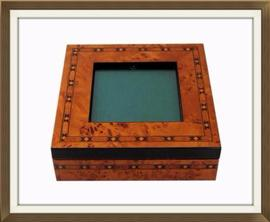 Beautiful Inlaid Jewellery Box With Display Panel