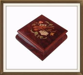 Beautiful Miniature Inlaid Sorrento Jewellery Box
