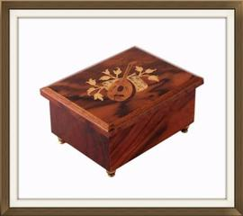High Quality Italian Musical Vintage Jewellery Box