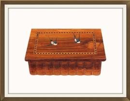 SOLD Inlaid Jewellery Box With Secret Opening