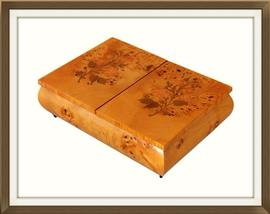 SOLD Inlaid Maple Musical Vintage Jewellery Box