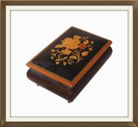 Vintage Sorrento Inlaid Musical Jewellery Box