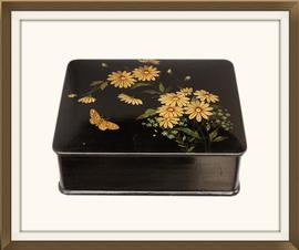 SOLD Antique Papier Mache Jewellery Box