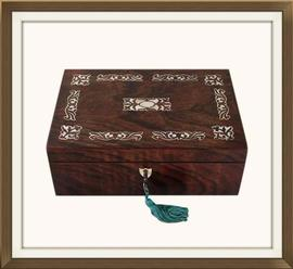 SOLD Antique Victorian Rosewood Jewellery Box