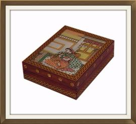 SOLD Vintage Indian Inlaid Jewellery Box