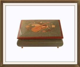SOLD Vintage Sorrento Inlaid Musical Jewellery Box