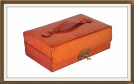 SOLD Vintage 1950s Italian Leather Jewellery Box
