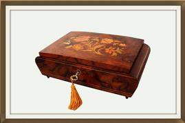 SOLD Italian Floral Marquetry Jewellery Box
