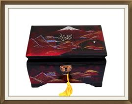 SOLD Lacquered & Inlaid Musical Jewellery Box