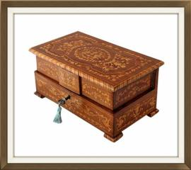SOLD 1940s Italian Inlaid Musical Jewellery Box