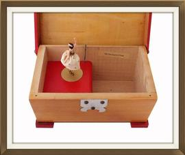 Musical Vintage Jewellery Box With Ballerina