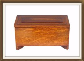 SOLD 1930s Art Deco Tiger Oak Jewellery Box