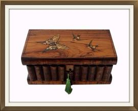 SOLD Jewellery Box Secret Lock & Compartment