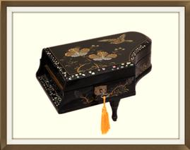 SOLD Oriental Piano Shaped Musical Jewellery Box