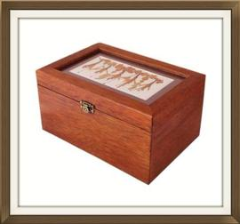 SOLD Solid Jewellery Box with Pressed Flowers