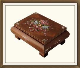 SOLD Early 20th C Painted Russian Jewellery Box