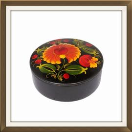 SOLD Vintage Russian Hand Painted Jewellery Box