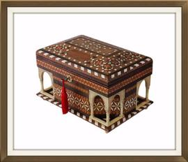 SOLD Vintage Spanish Inlaid Musical Jewellery Box