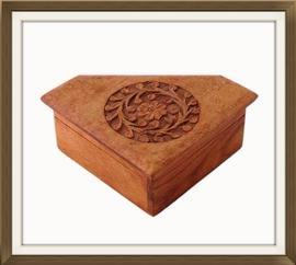 SOLD Carved Sandalwood Vintage Jewellery Box