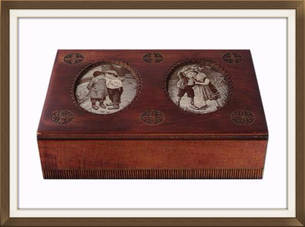 Beautiful Vintage Jewellery Box With Silk Prints