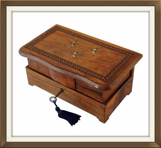 Lovely Italian 1930s Vintage Musical Jewellery Box